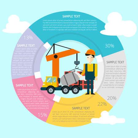 Bau Infografik Standard-Bild - 80623598