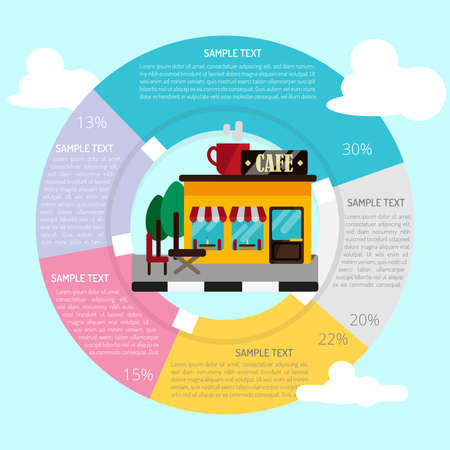 Cafe Infographic 向量圖像