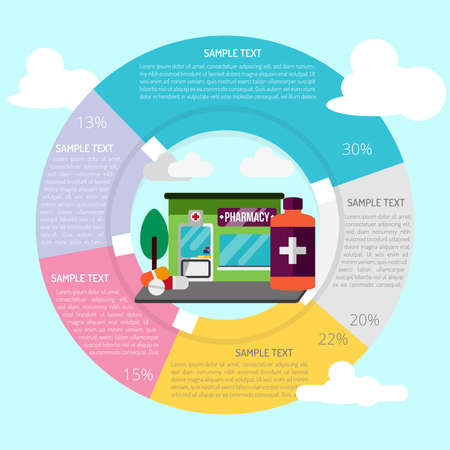 heath: Pharmacy Infographic Illustration