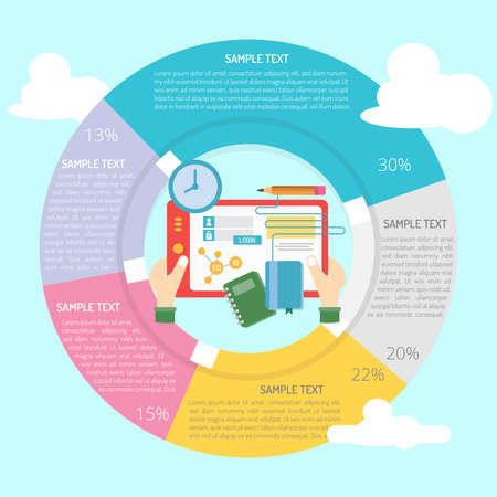 e business: E-Learning Infographic Illustration