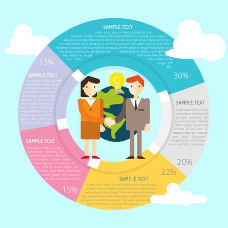 Affiliate Infographic Illustration