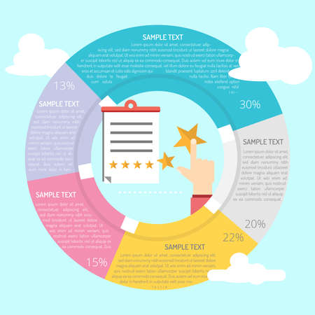 review: Review Infographic Illustration