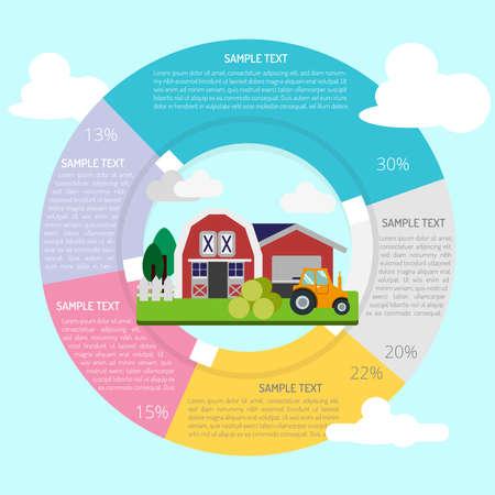 Farm Infografik Standard-Bild - 80624102