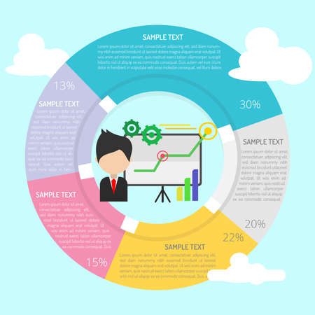 Business Learning Infographic Illustration