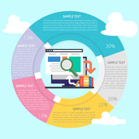 Web Research Infographic Vettoriali