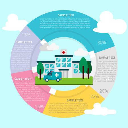 Krankenhaus Infografik Standard-Bild - 80624390