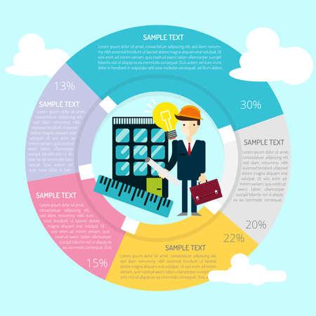 Engineering Infografik Standard-Bild - 80624391