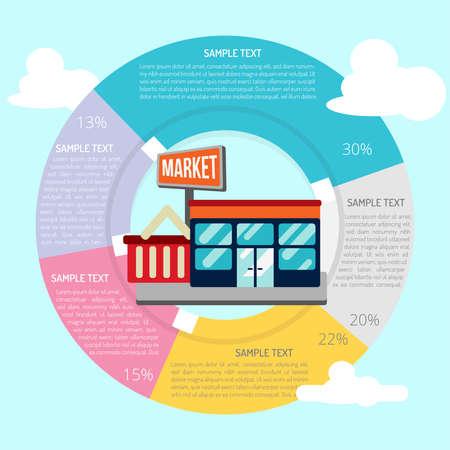 Supermarket Infographic 向量圖像