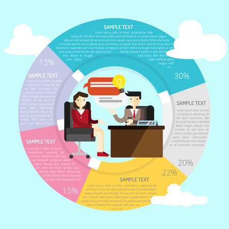 consult: Consulting Infographic Illustration
