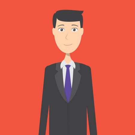 Banker Character Male Ilustração