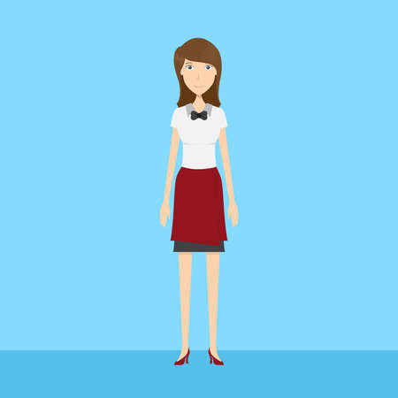 Waitress Character Female