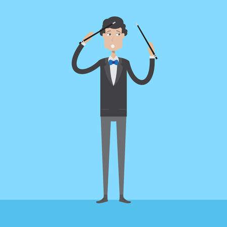 Composer Character Male Ilustração