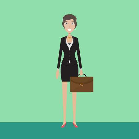 Banker Character Female Ilustração