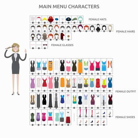 Character Creation Composer Ilustração