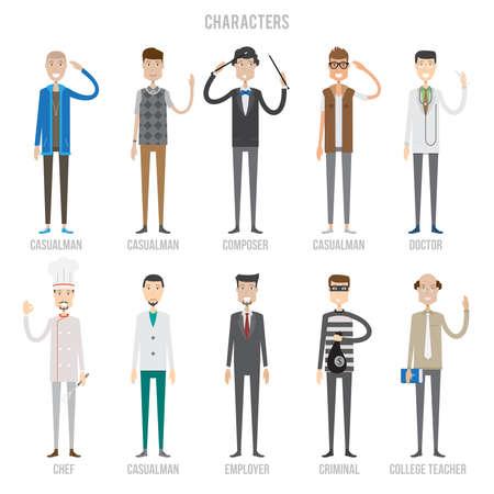 Characters Set Ilustração