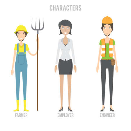 Characters Set Ilustracja