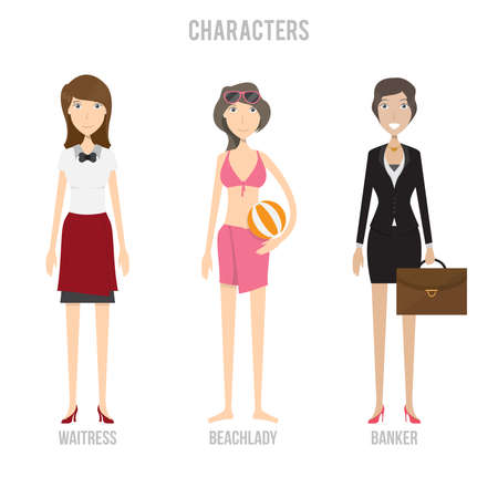 Characters Set Ilustrace