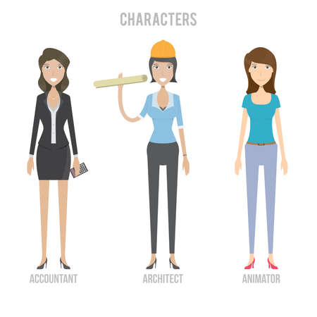 Characters Set Illustration