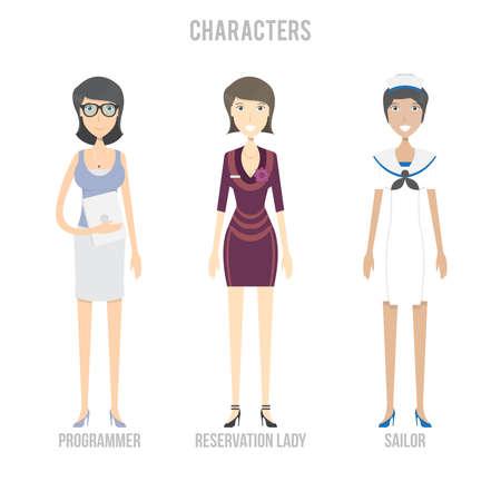 Characters Set 矢量图像