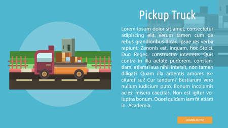Pickup Truck Conceptual Banner