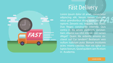 Fast Delivery Conceptual Banner