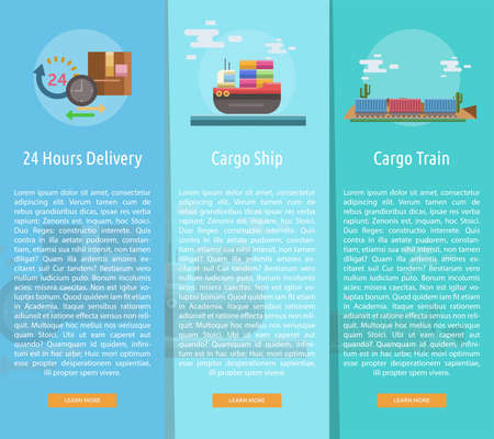 Cargo and Delivery Vertical Banner Concept