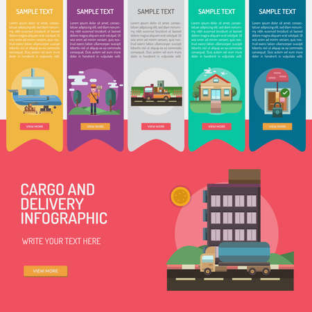 looked: Infographic Cargo and Delivery