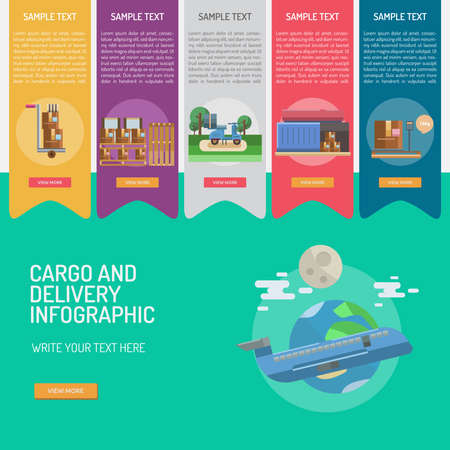 scale icon: Infographic Cargo and Delivery