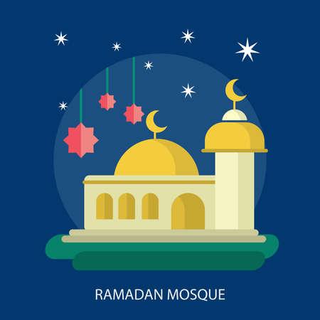 Ramadan Mosque Conceptual Design Illustration