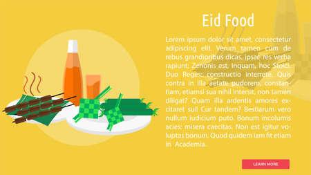 Eid Food Conceptual Design Illustration