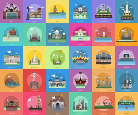 Stad van Indonesië Conceptueel ontwerp