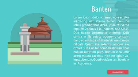 Banten City of Indonesia Conceptual Design 向量圖像