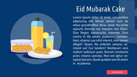 Eid Mubarak Cake Conceptual Design