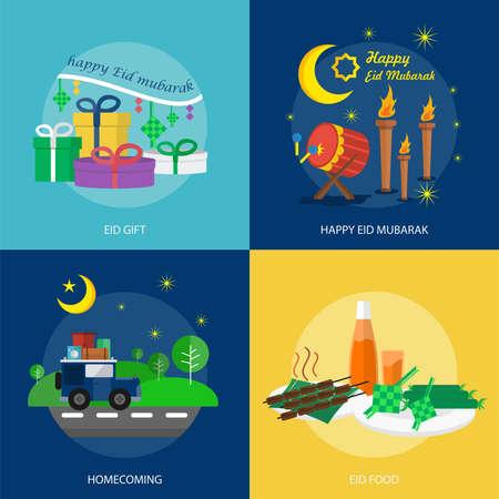 Eid Mubarak Conceptual Design Illustration