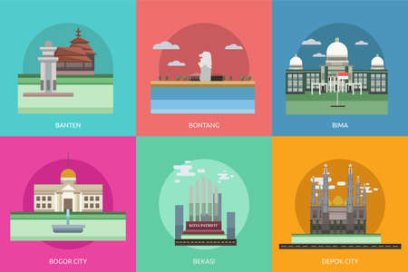 flag: City of Indonesia Conceptual Design Illustration