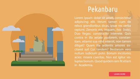 Pekanbaru City of Indonesia Conceptual Design 向量圖像