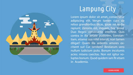Lampung City of Indonesia Conceptual Design 向量圖像