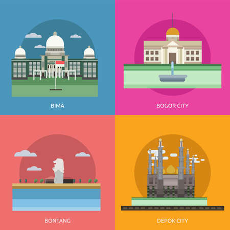 City of Indonesia Conceptual Design 向量圖像