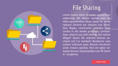 File Sharing Conceptual Design Illusztráció