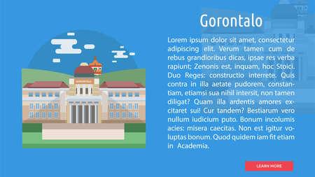 Gorontalo City of Indonesia Conceptual Design 向量圖像