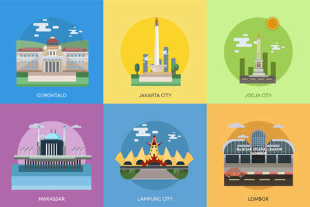City of Indonesia Conceptual Design Vectores