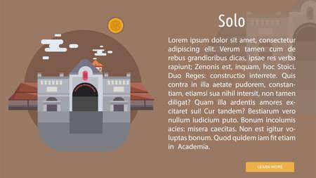 Solo Stadt Indonesien Konzeption Standard-Bild - 80715691