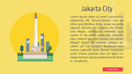 Jakarta City of Indonesia Conceptual Design Illustration