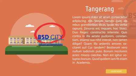 Tangerang City of Indonesia Conceptual Design 向量圖像