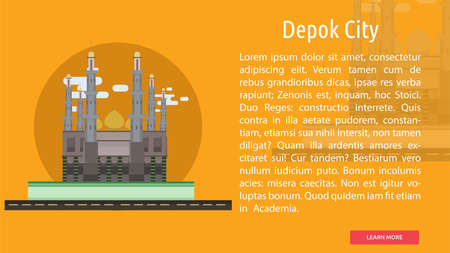 Depok City of Indonesia Conceptual Design 向量圖像