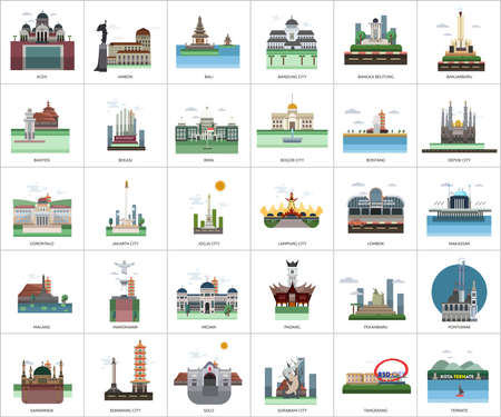 City of Indonesia Conceptual Design Stock Illustratie