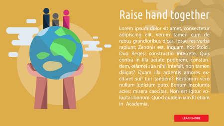 Steek hand samen Conceptueel Ontwerp Stock Illustratie