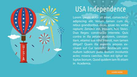 미국 독립 개념 디자인