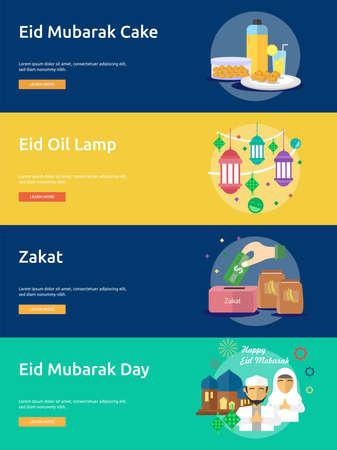 Eid Mubarak Design concettuale banner Archivio Fotografico - 80812983
