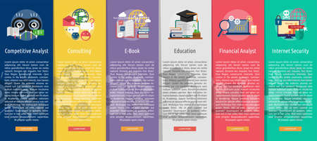 Business and Finance Vertical Banner Concept Illustration